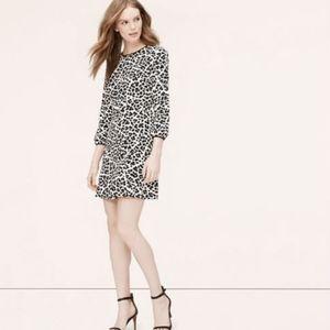 Loft Cheetah Print Mini Dress